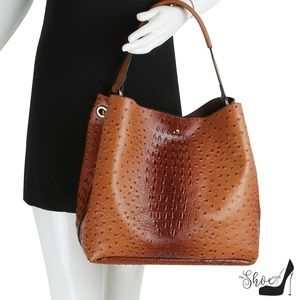 My Bag Lady Online Bags - Ostrich & Alligator Bucket Bag & Crossbody Set